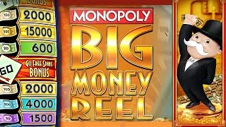 getlinkyoutube.com-*NEW SLOT* - MONOPOLY BIG MONEY REEL SLOT - LIVE PLAY + BONUS! - Slot Machine Bonus