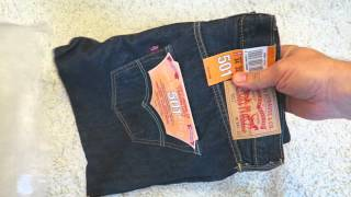 getlinkyoutube.com-Genuine Levi's Men's 501 Original Fit Jeans from Amazon Unboxing