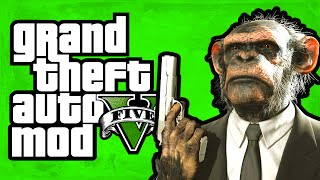 "getlinkyoutube.com-GTA 5 - Play as a Monkey! (Monkey Mod) [Mod Showcase] ""GTA 5 Funny Moments"""