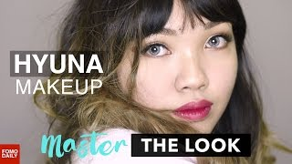 Hyuna's Subtle Eyes Bold Lips • Master The Look
