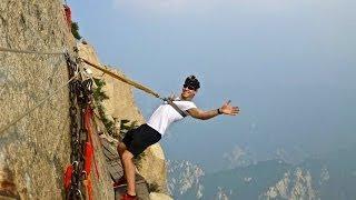 getlinkyoutube.com-Deadliest Hike in the World: Mount Huashan, China
