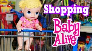getlinkyoutube.com-Baby Alive GOES SHOPPING Baby Alive Doll Buys Diapers Baby Alive Toys Clothes For NEW BABY