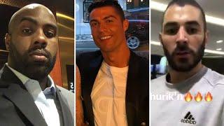 Hommages des stars à ZIDANE suite à son départ du Réal Madrid . Benzema Cristiano Ronaldo riner