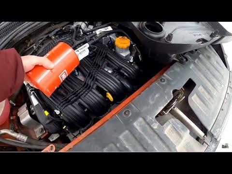 Где находится щуп масла в двигателе у Lada Vesta Sport