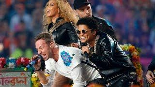 getlinkyoutube.com-Beyoncé, Brunos Mars et Coldplay ont mis le feu au Super Bowl !