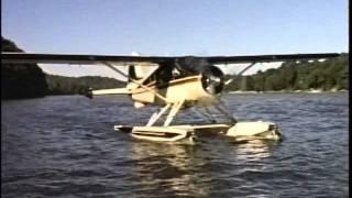 getlinkyoutube.com-DHC-2 Beaver amphib 1987 footage Hughes 500d Bell 47