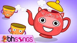 getlinkyoutube.com-Im A Little Teapot Lyrics Lead Vocal | Music For Kids | Ultra HD 4K Video Songs