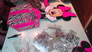 Minnie Mouse Centerpieces in Hotpink and Zebra Prints
