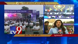 Sai Dharam Tej and Mehreen participate in Freedom Hyderabad 10K Run - TV9 NOW