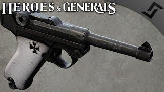getlinkyoutube.com-Iron Cross P08 Luger - Heroes and Generals - German Pistoleer Gameplay