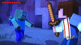 getlinkyoutube.com-Minecraft: STORY MODE - Episode 1 Walkthrough Part 2 - EPIC ZOMBIE FIGHT!