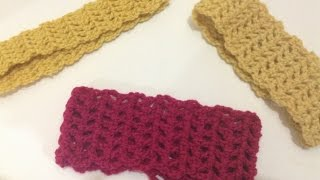 getlinkyoutube.com-كروشيه ربطه شعر Crochet headband
