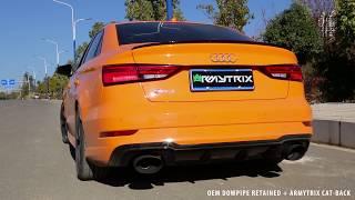 2018 Audi RS3 Sedan (Glut Orange) w/ ARMYTRIX Cat-Back Exhaust - REVS & ACCELERATIONS! width=
