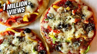 How To Make Pizza On Pan Or Tawa | No Oven – No Yeast Pizza Recipe | Divine Taste With Anushruti