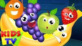 Kids TV Nursery Rhymes - Five Little Fruits Nursery Rhyme Song For Kids