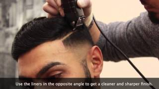 getlinkyoutube.com-HD BARBER TUTORIAL EP.1 - Bald fade | combover | parting - BARBERVINNY UK