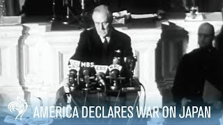 getlinkyoutube.com-America Declares War on Japan - President Roosevelt Speech