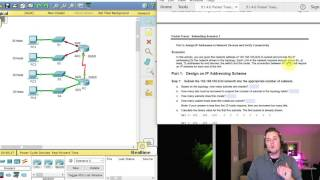9.1.4.6 Packet Tracer - Subnetting Scenario 1