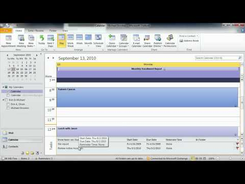 Total Training for Microsoft Outlook 2010 Ch8 L2. Assigning Tasks & Adding Them to the Calendar