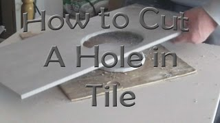getlinkyoutube.com-How to cut a hole in ceramic tile for toilet flange with an angle grinder