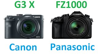 Canon PowerShot G3 X vs Panasonic Lumix DMC-FZ1000