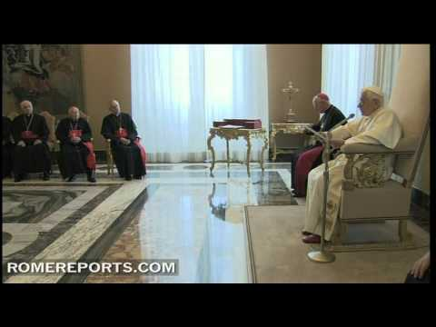 Pope's speaks to American bishops on politics  secularism  and Christian culture