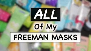 FREEMAN MASKS COLLECTION REVIEW   Masker Freeman   Skincare Routine   suhaysalim