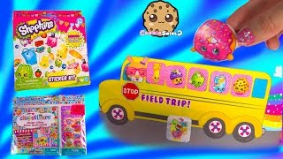 Shopkins Sticker Kit with Small Mart Scene, Chopstixers Album, Opening Review Video Cookieswirlc