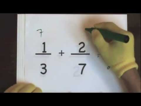 Add Fractions With Unlike Denominators Part 1