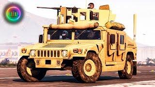 getlinkyoutube.com-GTA 5: LSPDFR Military Patrol - Humvee w/ .50 Cal M2 Browning!