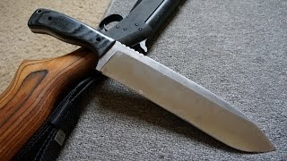 Knifemaking: Making a 1075 High Carbon steel Chopper.