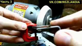 getlinkyoutube.com-Резцы по дереву. Богородский нож из быстрореза своими руками