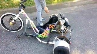 getlinkyoutube.com-Motorized Drift Trike [Gymkhana]