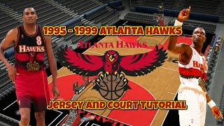 getlinkyoutube.com-NBA 2K16: 1995 - 1999 Atlanta Hawks Jersey and Court Tutorial