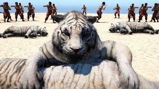 getlinkyoutube.com-Far Cry 4 Massive Scale Battles Tigers & Elephants VS Soldiers