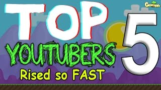 GrowTopia | TOP5! Youtuber Rised so fast
