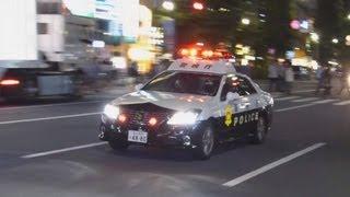 getlinkyoutube.com-警視庁新型200系クラウンパトカーの緊急走行。Urgent run of the new Toyota Crown police car.