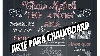 getlinkyoutube.com-DIY | Como fazer Arte para Chalkboard - Arte personalizada