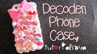 ♡ How to Decoden a Phone Case ♡ {Making of Pink Sweets Case}