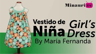 getlinkyoutube.com-Vestido Niña (MR9) - Girl Dress - Vestito Bambina - Robe Fille - Mädchen-Kleid