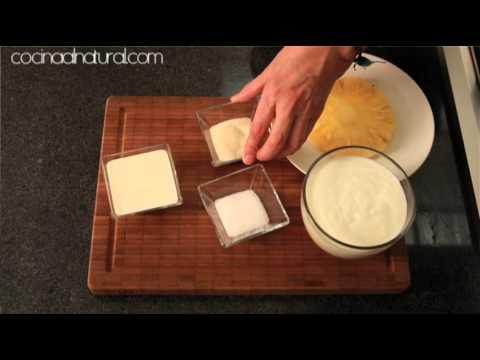 Gelatina de yogur con piña - Yogurt Jello with Pineapple
