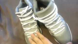 "getlinkyoutube.com-Authentic  Jordan 11 ""Cool Grey"" HD Review| dopekicks23.cn"