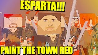 ESTO ES ESPARTA!!! - MAPAS CUSTOM EN PAINT THE TOWN RED| Gameplay Español