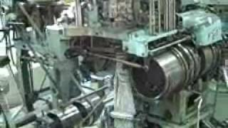 Bentley Komet  sock knitting machines  in action.