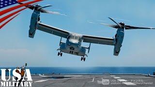 "getlinkyoutube.com-オスプレイで護衛艦「ひゅうが」に負傷者搬送訓練(陸上・海上自衛隊) - MV-22 Osprey Transport Injured on JSDF ""JS Hyūga"""