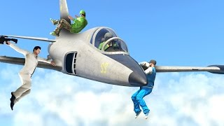 CATCH THE ENEMY WITH AN AIRPLANE! (GTA 5 Funny Moments)