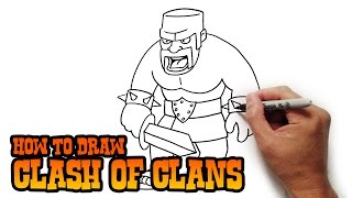 getlinkyoutube.com-How to Draw Barbarian- Clash of Clans- Video Lesson
