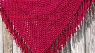 getlinkyoutube.com-Chal Triangular Crochet Ganchillo con flecos