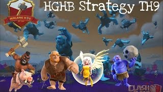 getlinkyoutube.com-Strategi menyerang th9 max deffence 3 Star by HGHB