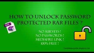 getlinkyoutube.com-How To Open Password Protected RAR Files Without Password?